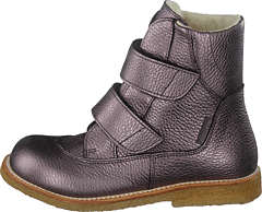 Tex-boot With Velcro Straps Mauvé Shine
