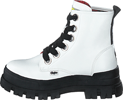Aspha Lace Up Hi White