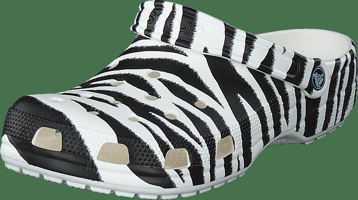 Crocs - Classic Animal Print Clog White/zebra Print
