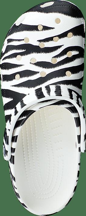 Kjøp Crocs Classic Animal Print Clog White/zebra Sko Online