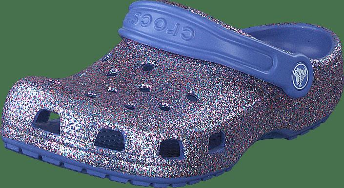 Crocs - Classic Glitter Clog Kids Lapis