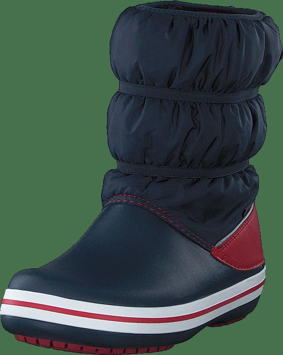 Crocband Winter Boot Kids Navy/red