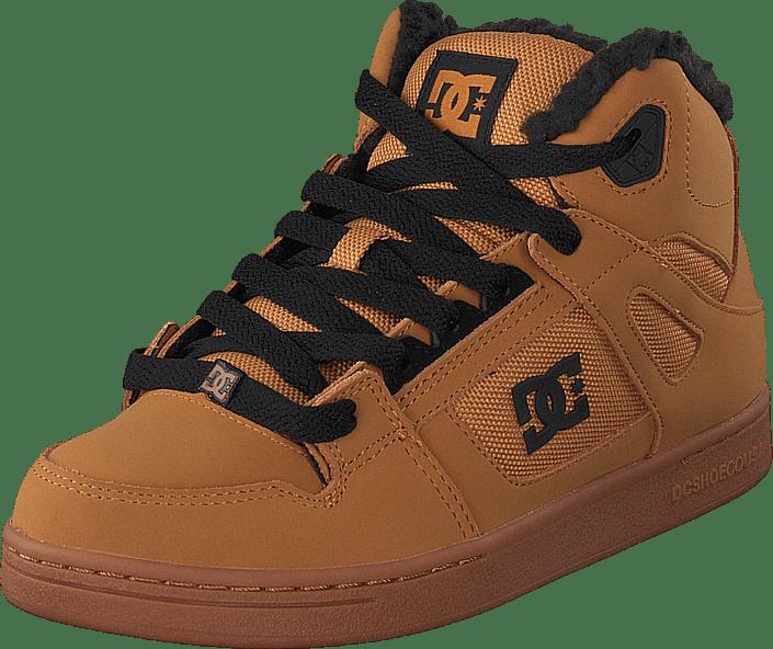 DC Shoes - Pure High-top Wnt Dark Chocolate/wheat/gum
