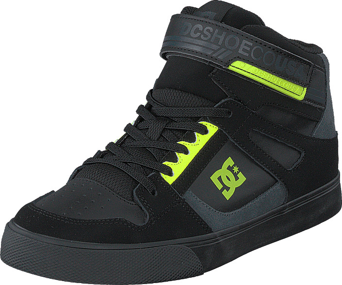 DC Shoes - Pure High-top Ev Black/black/yellow