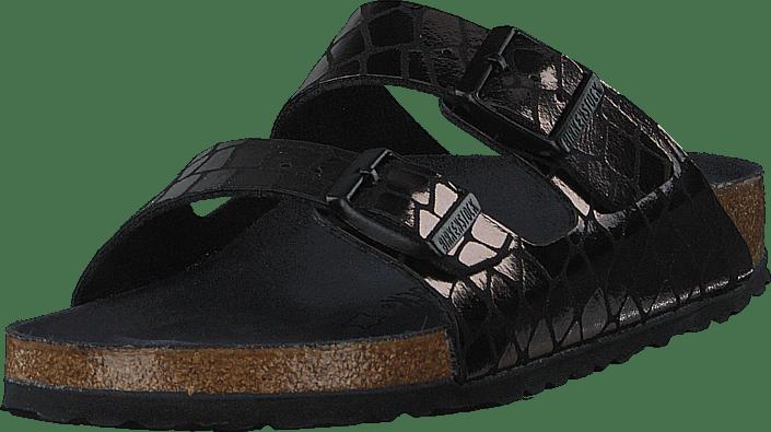 Birkenstock - Arizona Slim Gator Gleam Black