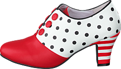 Ava Jitterbug Vegan White/red/dots