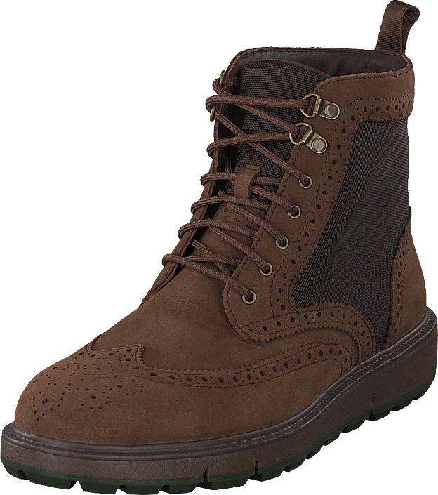 Motion Wing Tip Boot Brown/olive
