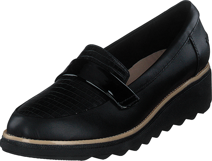 Clarks - Sharon Gracie Black Leather Combi