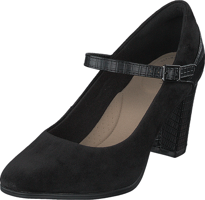 Alayna Shine Black Suede / Synthetic Combi