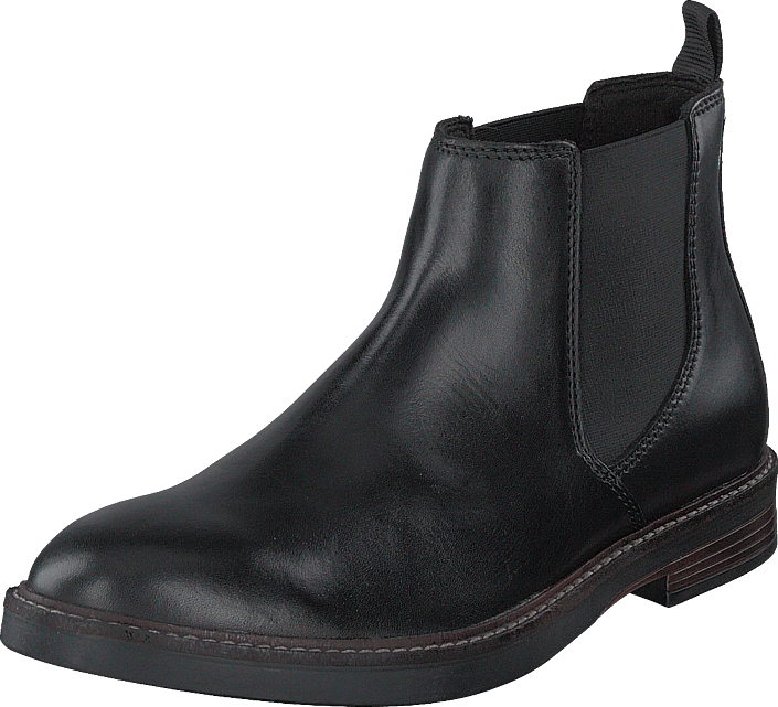 Clarks - Paulson Up Black Leather
