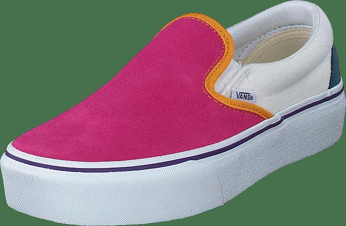 Vans - Ua Classic Slip-on Platform (mini Cord) Multi/tr Wht