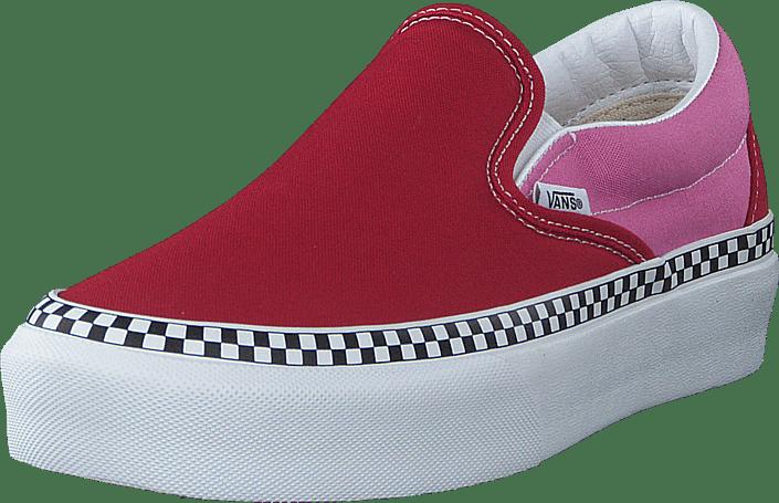 Vans - Ua Classic Slip-on Platform Chili Pepper/fuchsia Pink