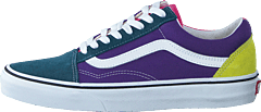 Ua Old Skool Fuchsia Purple/multi/true Wht