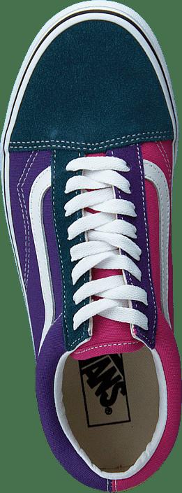Ua Old Skool Fuchsia Purple/multi/true Wht