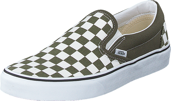 Vans - Ua Classic Slip-on (checkerboard) Grape Leaf/wht