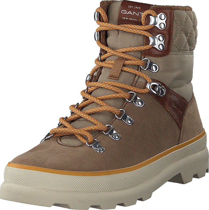 Kaari Mid Lace Boot Warm Khaki