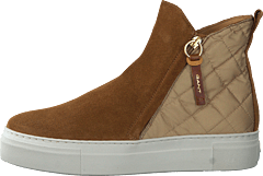 Vanna Mid Zip Boot Warm Khaki