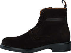 Brookly Mid Lace Boot Dark Brown