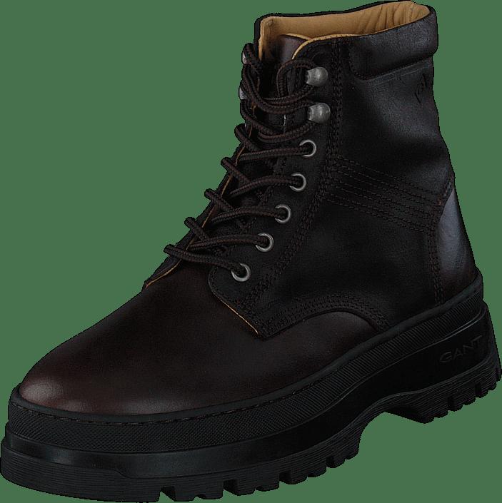 St Grip Mid Lace Boot Dark Brown