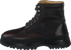 St Grip Mid Lace Boot Dark Brown