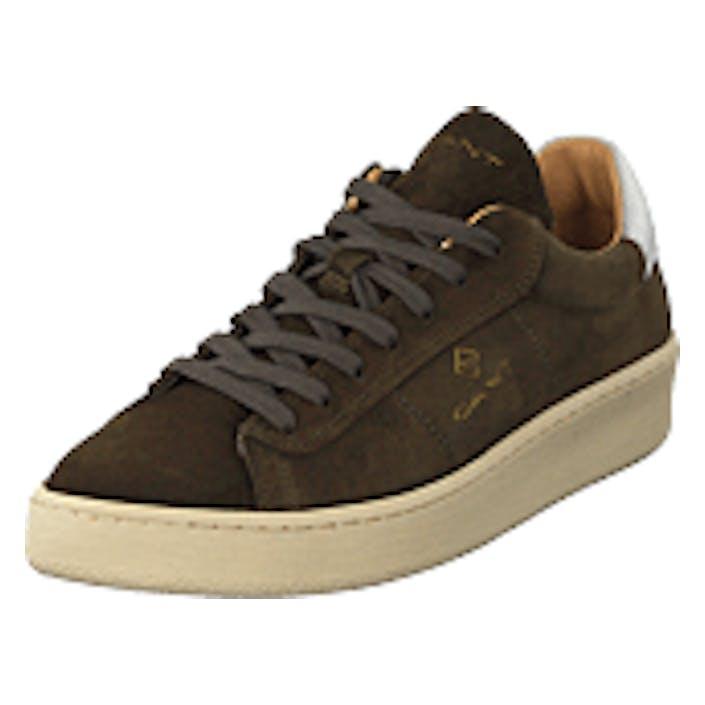 Gant Leville Cupsole Low Dark Olive, Shoes, brun, EU 44