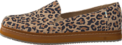 Palma Leather Wrap Desert Tan Leopard Print Suede