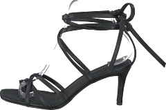 Ankle Strap Stiletto Heels Black