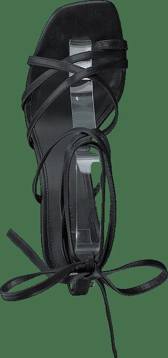 Ankle Strap Stiletto Heels Black