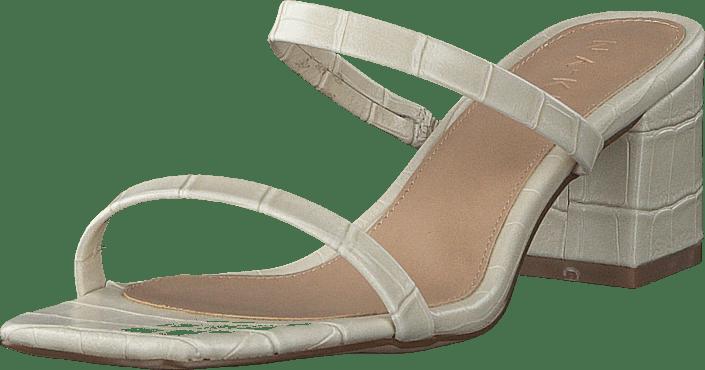 NA-KD - Croc Squared Strap Sandals Offwhite