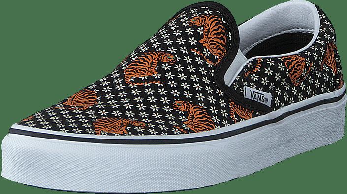 Vans - Ua Classic Slip-on (tiger Floral) Blk/tr Wht