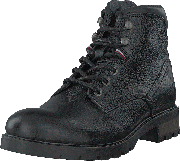 Tommy Hilfiger - Classic Warm Tumble Lth Boot Black