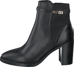 Block Branding High Heel Boot Black