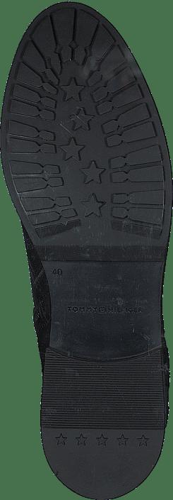 Th Interlock Leather Flat Boot Black