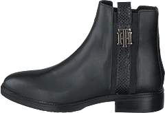 Th Interlock Leather Flat Boot Black