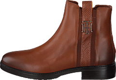 Th Interlock Leather Flat Boot Brown