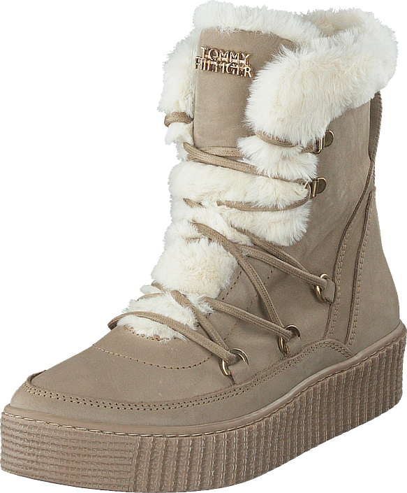 Tommy Warm Lined Lace Up Booti Beige