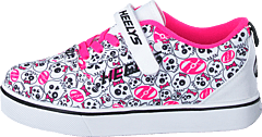 Heelys X2 Pro 20 X2 White/black/hot Pink/skulls