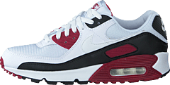 Air Max 90 White/new Maroon/black
