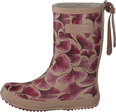 Fashion Rubberboot Bordeaux Leaves