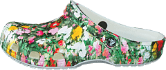 Classic Printed Floral Clog White/multi
