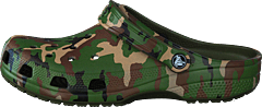 Classic Printed Camo Clog Army Green/multi