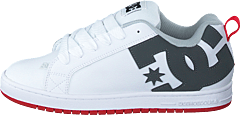 Dc Court Graffik Shoe White/grey/red
