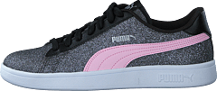 Puma Smash V2 Glitz Glam Jr Black-pinklady