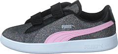 Puma Smash V2 Glitz Glam V Ps Black-pinklady