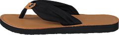 Leather Footbed Beach Sandal Black Bds