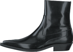 Pointy Cowboy Boots Black