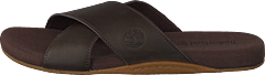Seatonbay Crossstrapslide Dark Brown Leather