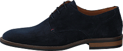 Essential Suede Lace Up Derby Midnight