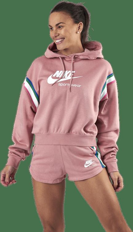 Womens Nsw Heritage Hoodie Rust Pink/White