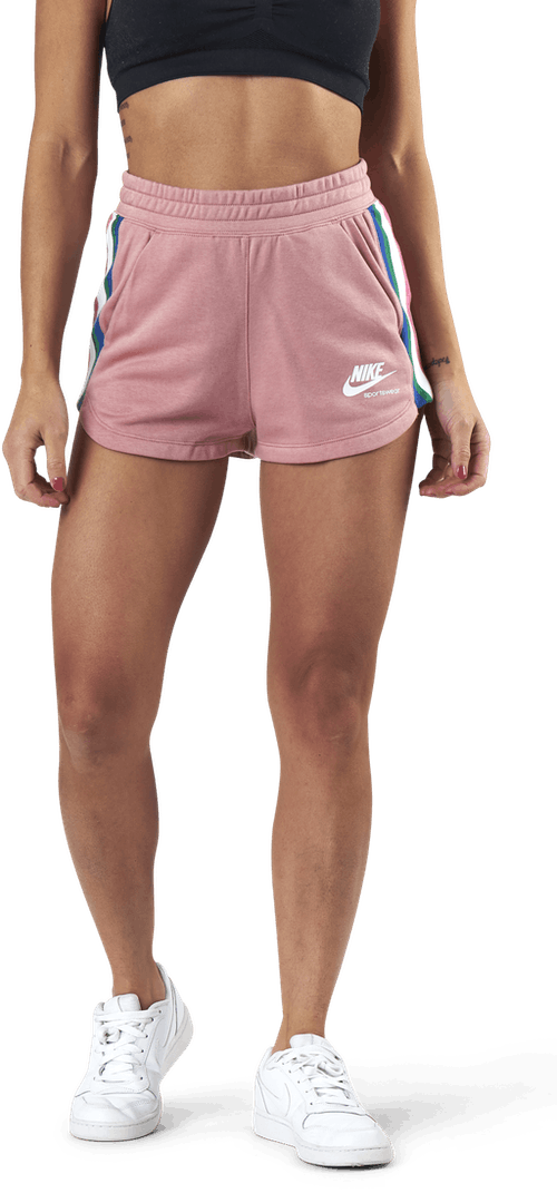 Nsw Hrtg Short Flc Pink/White